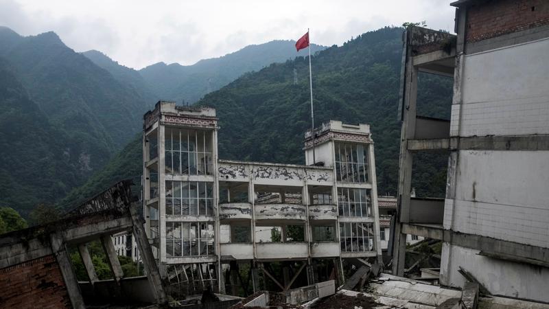 Chińskie miasto Beichuan zniszczone przez trzęsienie ziemi w 2008 roku