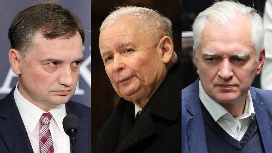 Zbigniew Ziobro, Jarosław Kaczyński oraz Jarosław Gowin