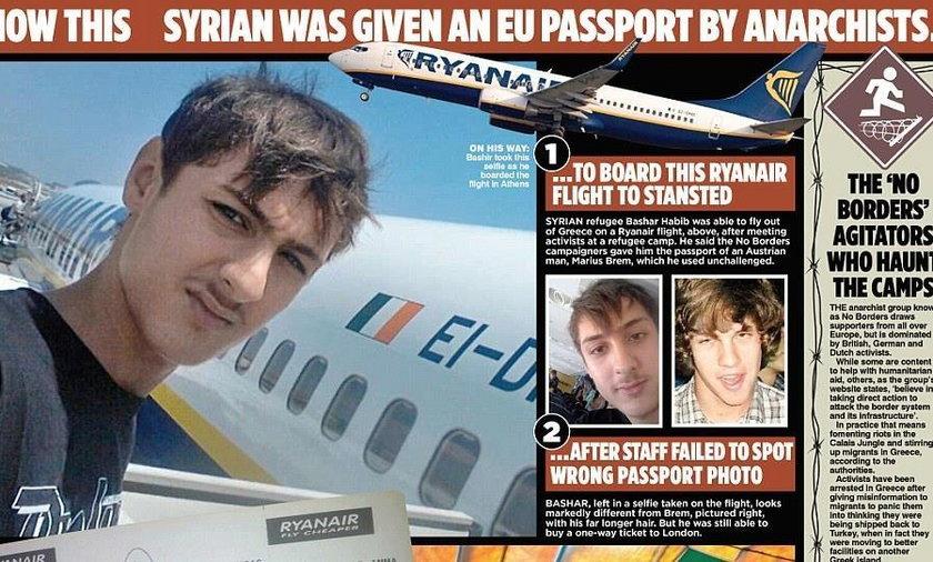 Syryjczyk wleciał na paszporcie Austriaka do Anglii
