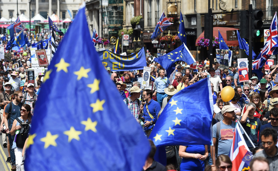 epa06833263 - BRITAIN BREXIT PEOPLE'S MARCH DEMONSTRATION (People's March Against Brexit)