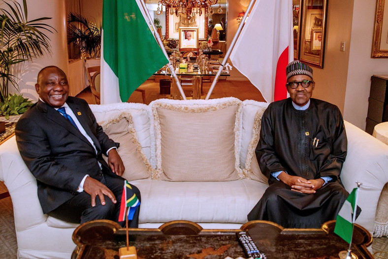 President Muhammadu Buhari and President Cyril Ramaphosa of South Africa [Twitter/@GovNigeeria]