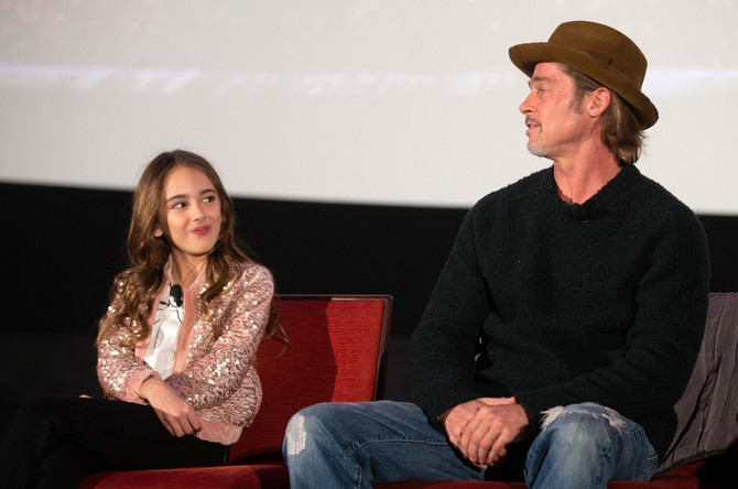 Julija je bila zvezda i na promocijama filma: sa Bredom Pitom