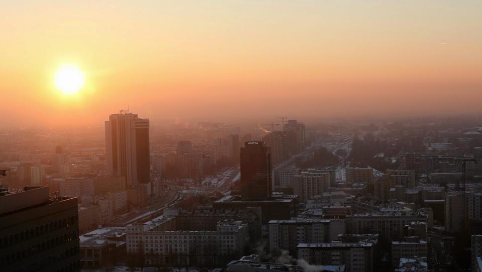 Smog w Warszawie 8-9 stycznia 2017