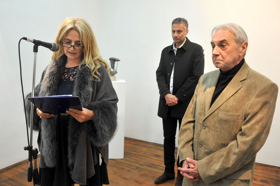 Na otvaranju izložbe govorili su Žaklina Marković i akademik Dušan Otašević