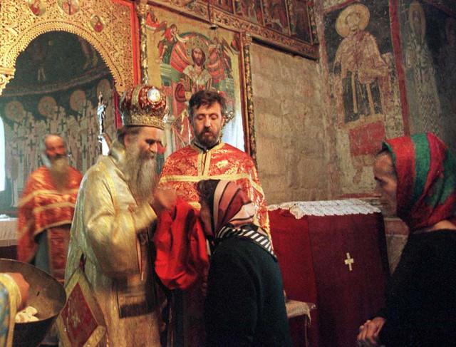 Amfilohije Radović, jun 1999, Peć