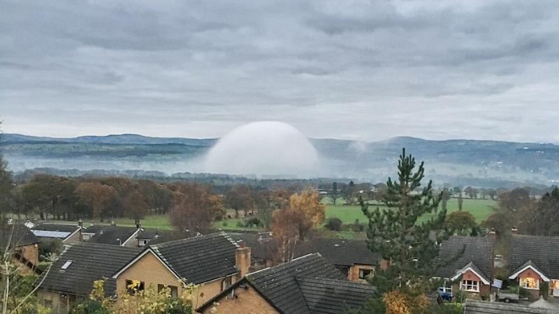 Mgła o takim kształcie nie zdarza się często