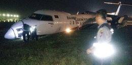 Samolot wypadł z pasa startowego. Są ranni