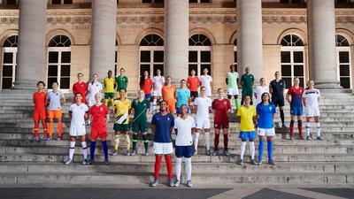 Super Falcons stars Asisat Oshoala, Oparanozie unveil Nigeria's 2019 World Cup jerseys in France