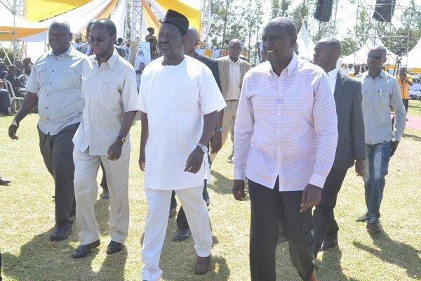 Anyang Nyongo, Raila Odinga and DP William Ruto