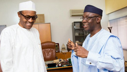 Buhari receives Bakare after the APC presidential victory in 2015 (Presidency)