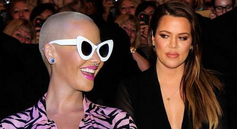 Amber Rose denies beef with the Kardashians