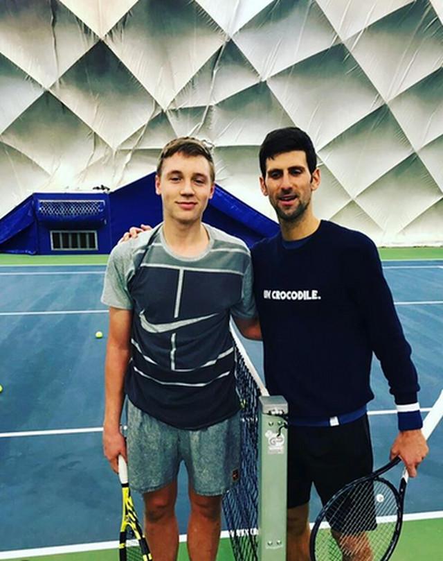 Hamad Međedović i Novak Đoković