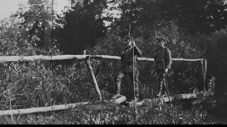 Patrol KOP-u na błotach Polesia przy granicy polsko-radzieckiej