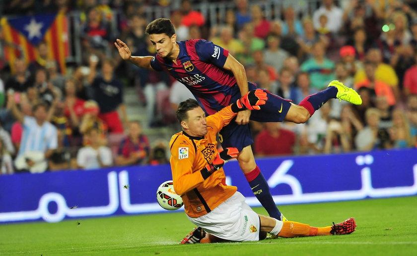 FC Barcelona powalczy o awans do 1/4 finału Pucharu Króla z Elche, którego bramki broni Przemysław Tytoń.