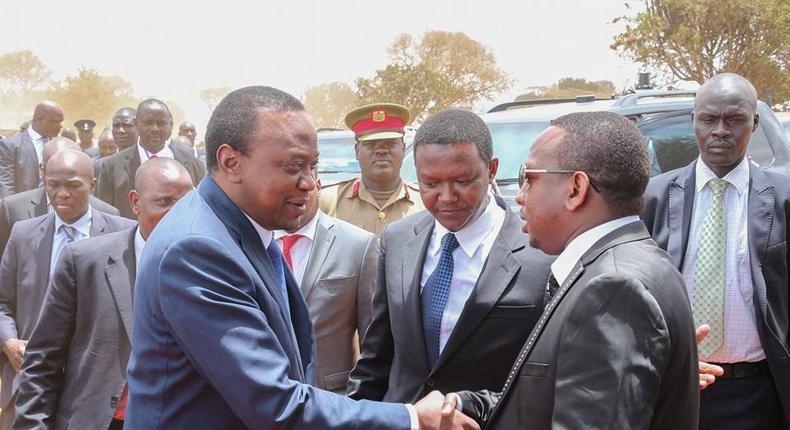 President Uhuru Kenyatta and Senator Mike Sonko