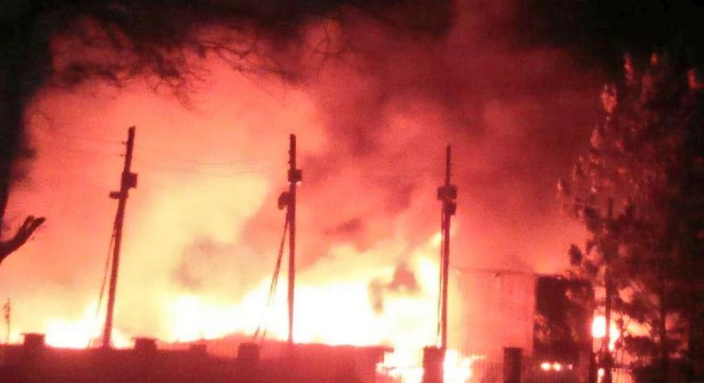 Mukuru Kayaba slums on Fire