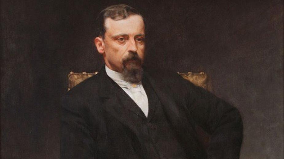 Portret Henryka Sienkiewicza autorstwa Kazimierza Pochwalskiego z 1890 roku (domena publiczna)
