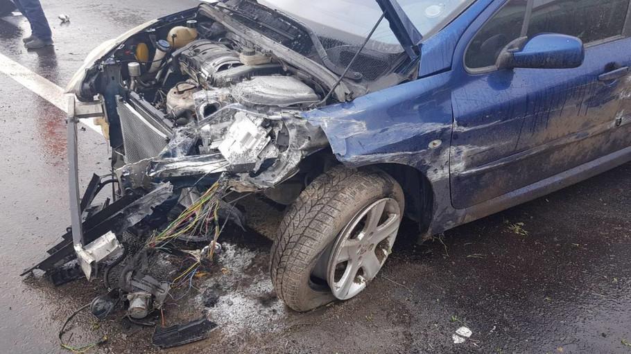 Auto Sandre Rešić posle nesreće