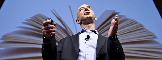 Jeff Bezos, prezes i dyrektor generalny Amazon.com Inc., przemawia podczas konferencji, Nowy Jork, USA