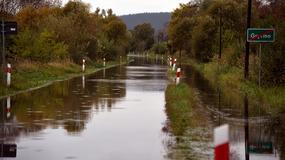 Rzeka zalała ulicę. Przejście graniczne koło Gryfina zamknięte
