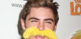 Efron doczepił sobie wąsy