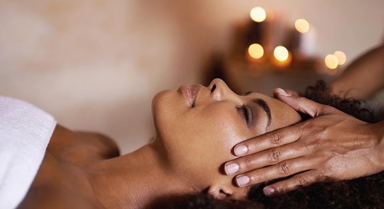 Facial massage helps in blood circulation (oneandonlyresorts)