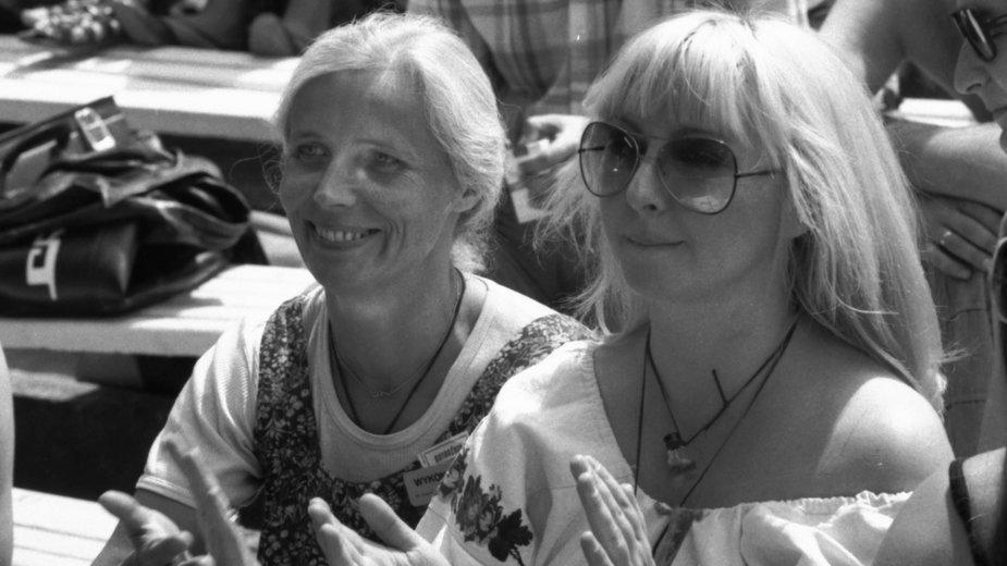 Agnieszka Osiecka i Maryla Rodowicz (1977)