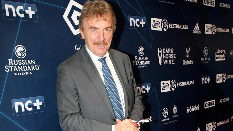 Prezes Polskiego Związku Piłki Nożnej Zbigniew Boniek podczas gali na zakończenie sezonu piłkarskiej Ekstraklasy
