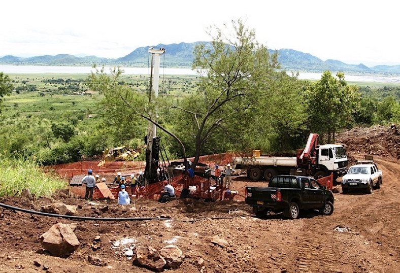 Drill pad at the Songwe Hill mine in Malawi. (Mkango Resources)