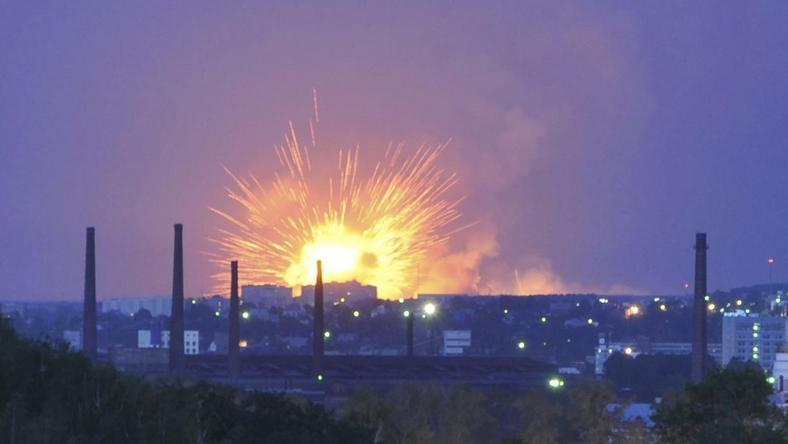 Pożar składu amunicji Armii Rosyjskiej koło Iżewska, fot. Reuters