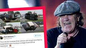 Brian Johnson z AC/DC miał poważny wypadek samochodowy. Do sieci wyciekły zdjęcia zniszczonego auta