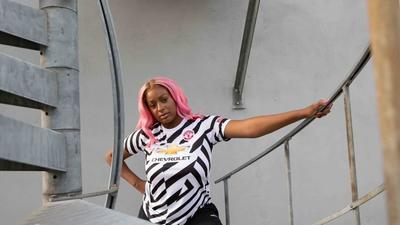 DJ Cuppy appears in ad to unveil Manchester United's new jersey