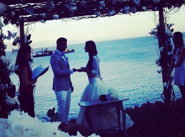 Ślub Artura Boruca i Sary Mannei
