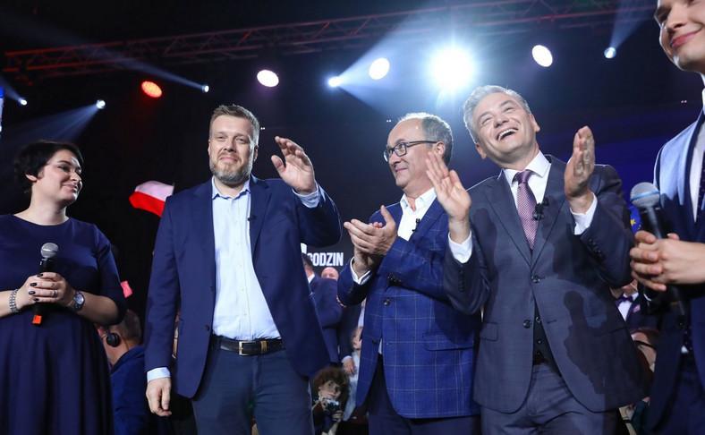 Adrian Zandberg, Włodzimierz Czarzasty i Robert Biedroń