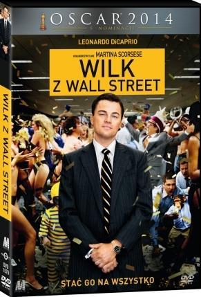 """płyta DVD z filmem """"Wilk z Wall Street"""""""