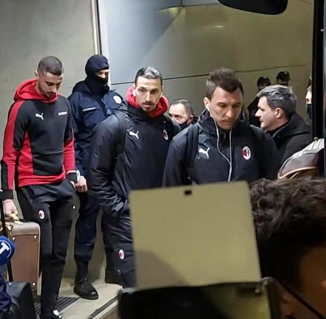 Zlatan Ibrahimović, Beograd, FK Milan, FK Crvena zvezda, Aerodrom