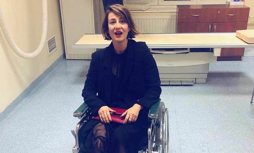 Maja Ostaszewska na wózku