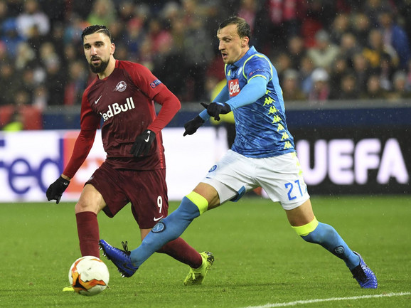 Detalj sa utakmice Salcburg - Napoli