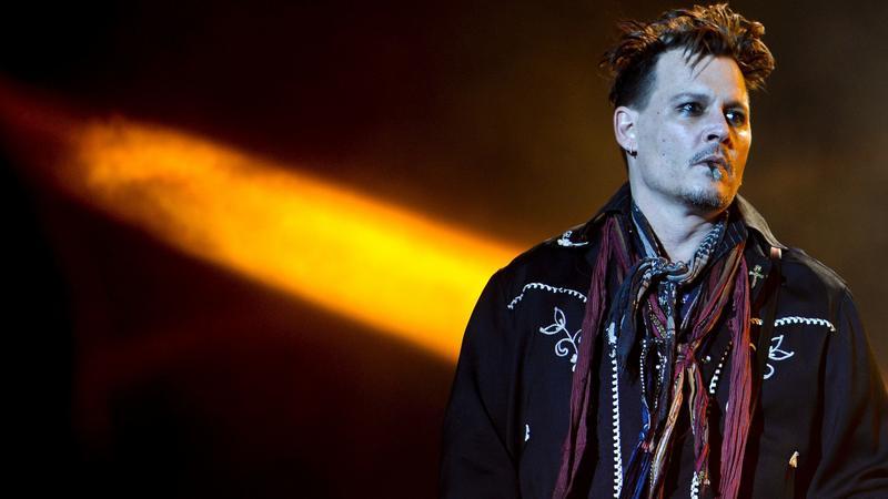 Johnny Depp na scenie z Hollywood Vampires