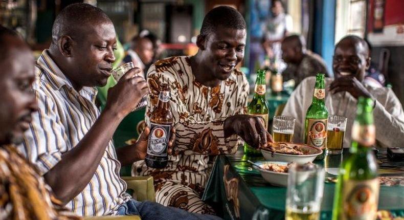 Typical local public bar in Nigeria