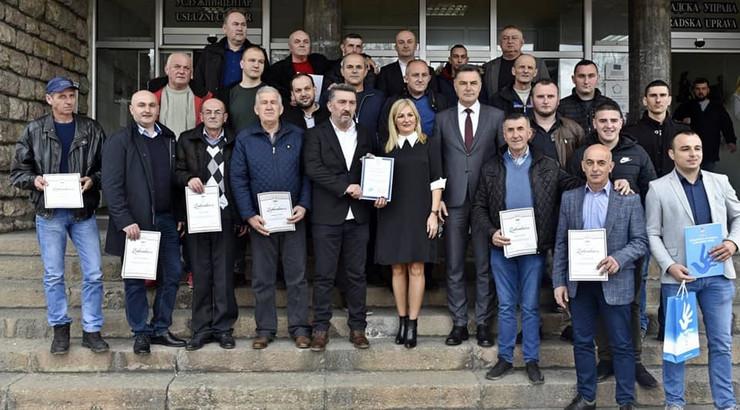 NOVIPAZAR01 Prijem i nagrade za novopazarske putare foto GU Novi Pazar