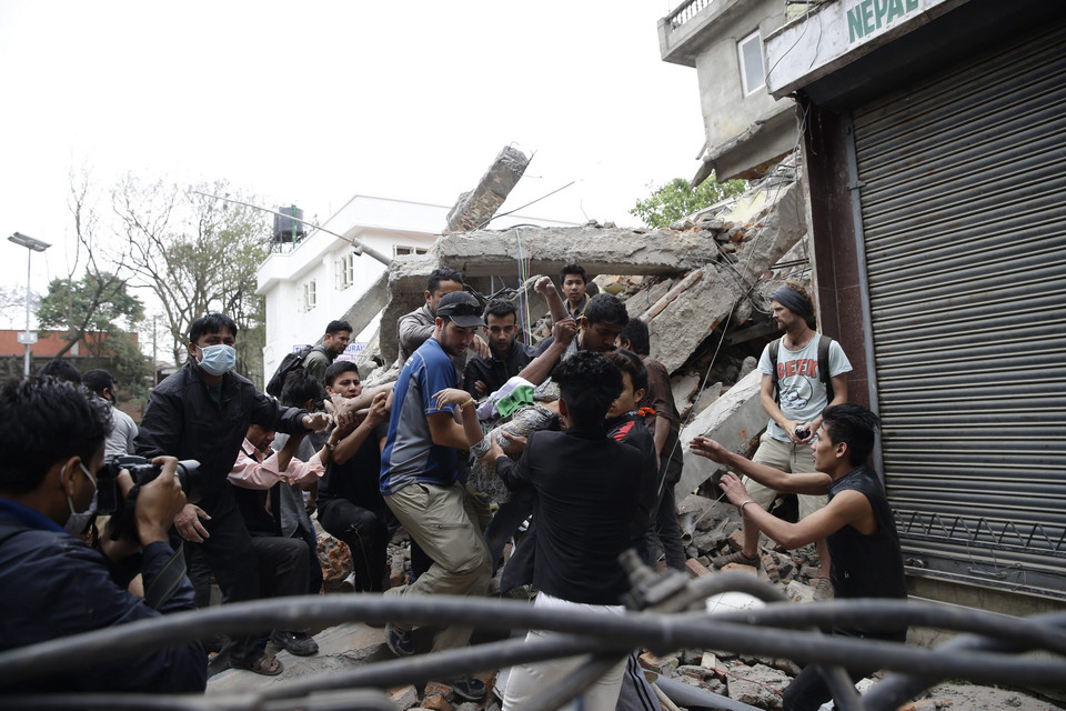 NEPAL EARTHQUAKE (Powerful earthquake hits Nepal)