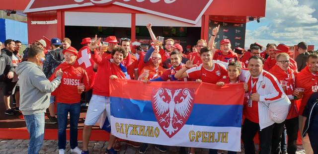 Navijači Srbije i Švajcarske
