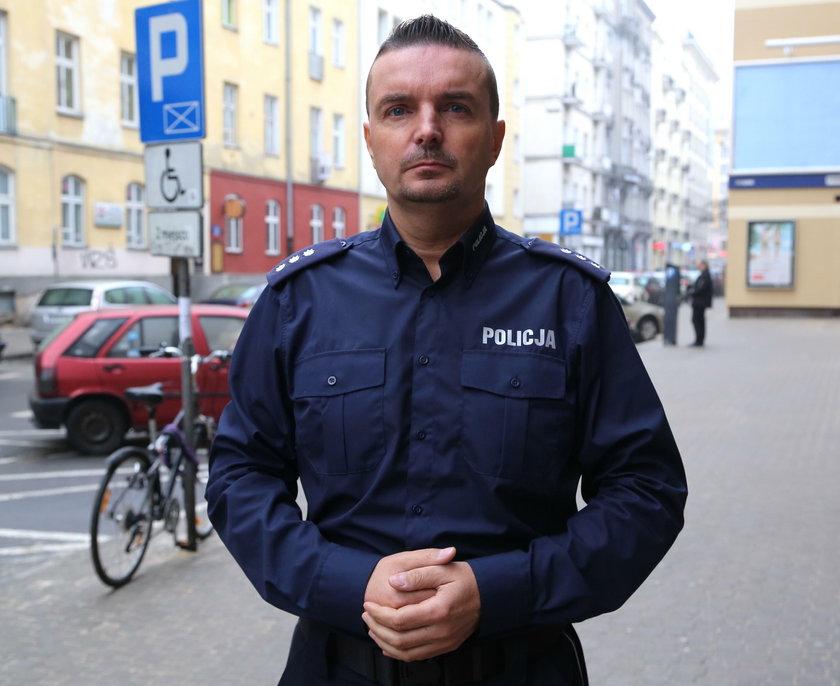 Nadkomisarz Robert Szumiata z mokotowskiej policji w Warszawie: