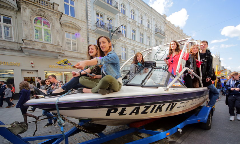 Uroczyste rozpoczecie Juwenaliów w Łodzi