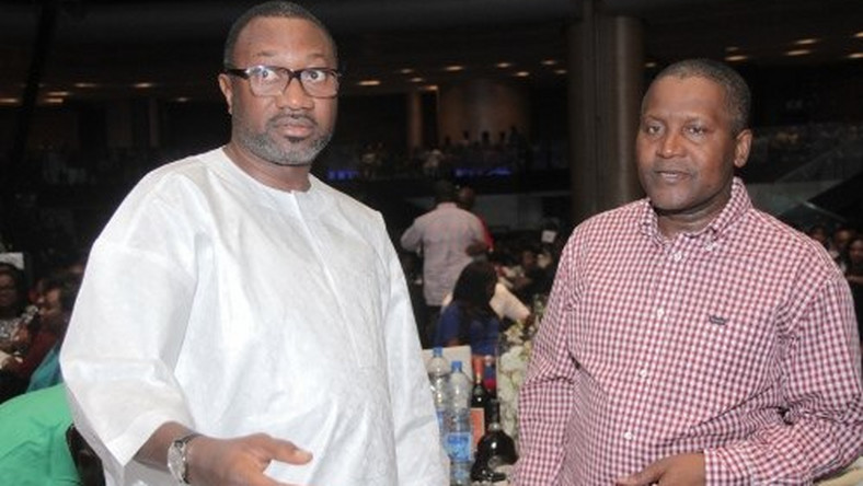 Image result for aliko dangote femi otedola 2019