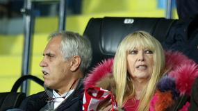 Maryla Rodowicz, Zygmunt Solorz-Żak i Jacek Kurski na meczu reprezentacji Polski