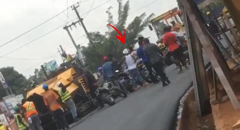Shatta Wale clash with contractors in Nima