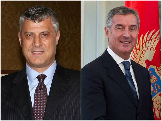 Hašim Tači i Milo Đukanović