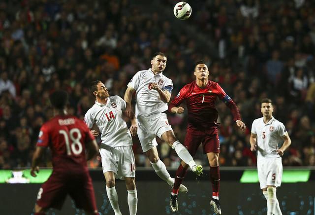 Detalj sa meča Portugal - Srbija